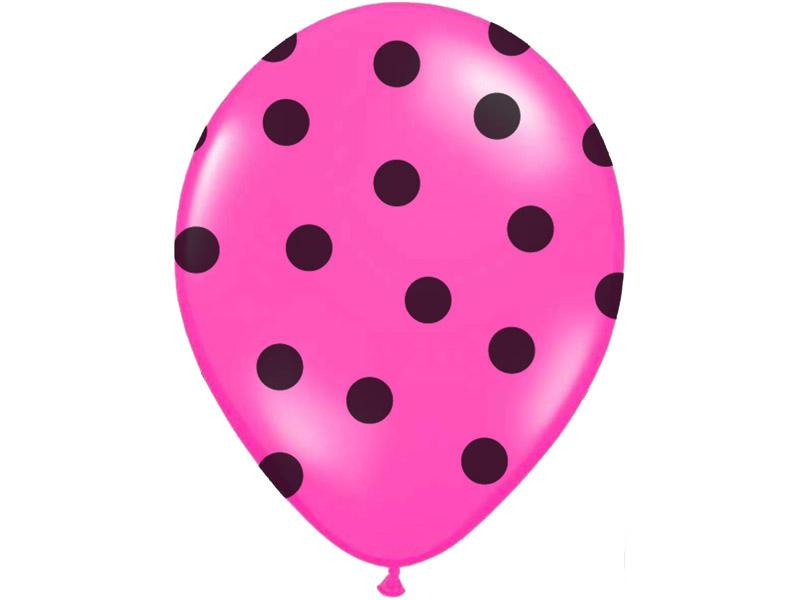 pöttyös lufi 30 cm – pink