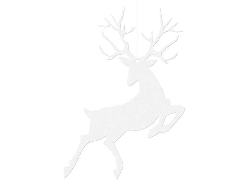 rénszarvas függő dísz – fehér