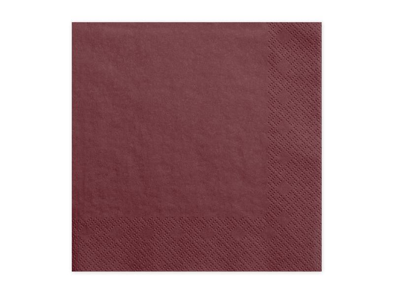 szalvéta 33x33 cm 3 rétegű (20 db/cs) – bordó