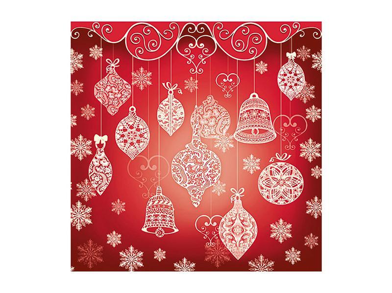 szalvéta 33x33 cm 3 rétegű (20 db/cs) – karácsonyi mintás, piros