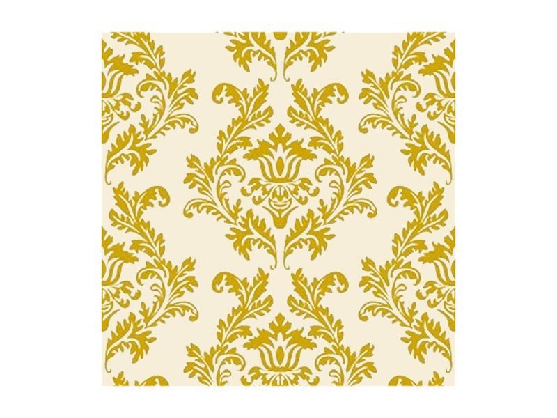 szalvéta 33x33 cm 3 rétegű (20 db/cs) – krém és arany mintás