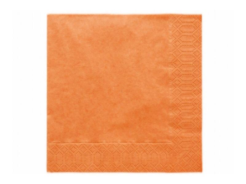 szalvéta 33x33 cm 3 rétegű (20 db/cs) – narancs