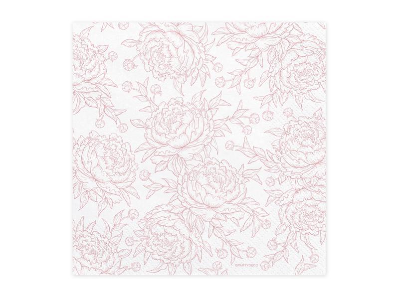 szalvéta 33x33 cm 3 rétegű (20 db/cs) – rózsa mintás