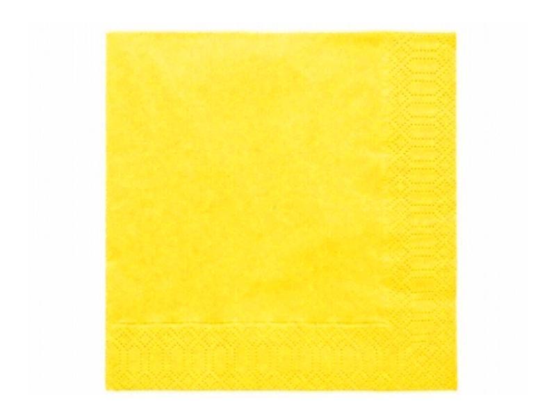 szalvéta 33x33 cm 3 rétegű (20 db/cs) – sárga