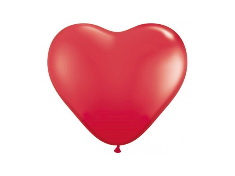 szív alakú lufi 40 cm – piros