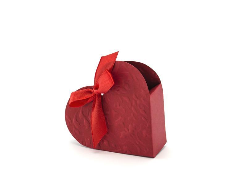szív alakú papírdoboz – piros