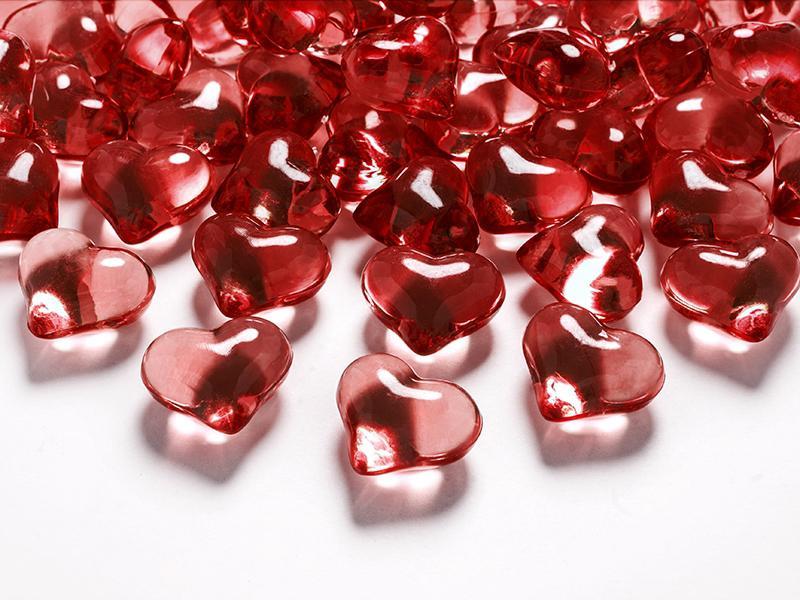 szív dekorkő 20 mm (30 db/cs) – piros