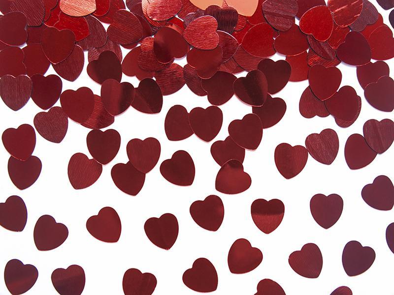 szív konfetti 10 mm (30 g/cs) – piros