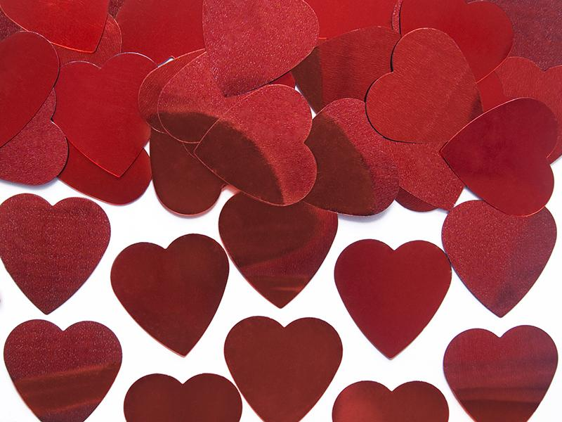 szív konfetti 25 mm (10 g/cs) – piros
