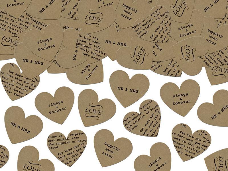 szív konfetti (3 g/cs) – feliratos