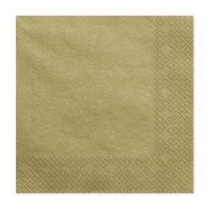 szalvéta 33x33 cm 3 rétegű (20 db/cs) – arany