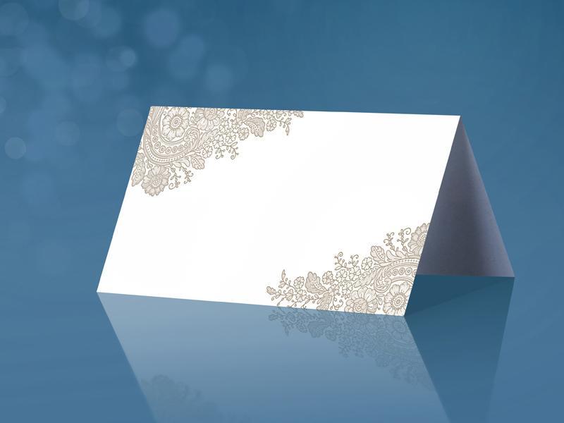ültetőkártya (25 db/cs) – bézs mintás