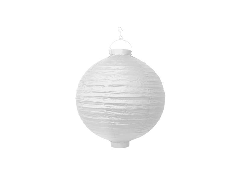 világító LED lampion gömb 20 cm – fehér