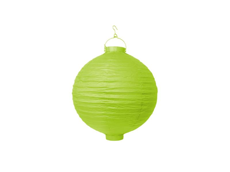 világító LED lampion gömb 20 cm – fűzöld