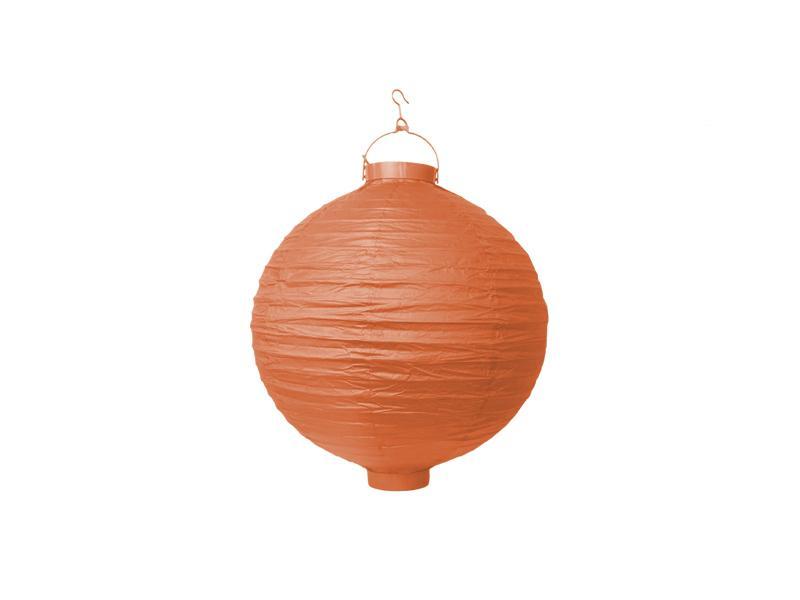 világító LED lampion gömb 20 cm – narancs
