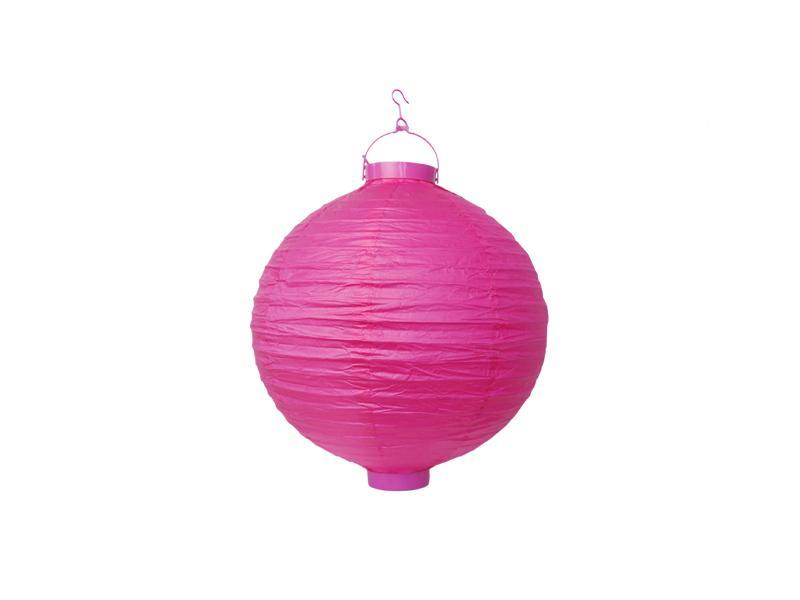 világító LED lampion gömb 20 cm – pink