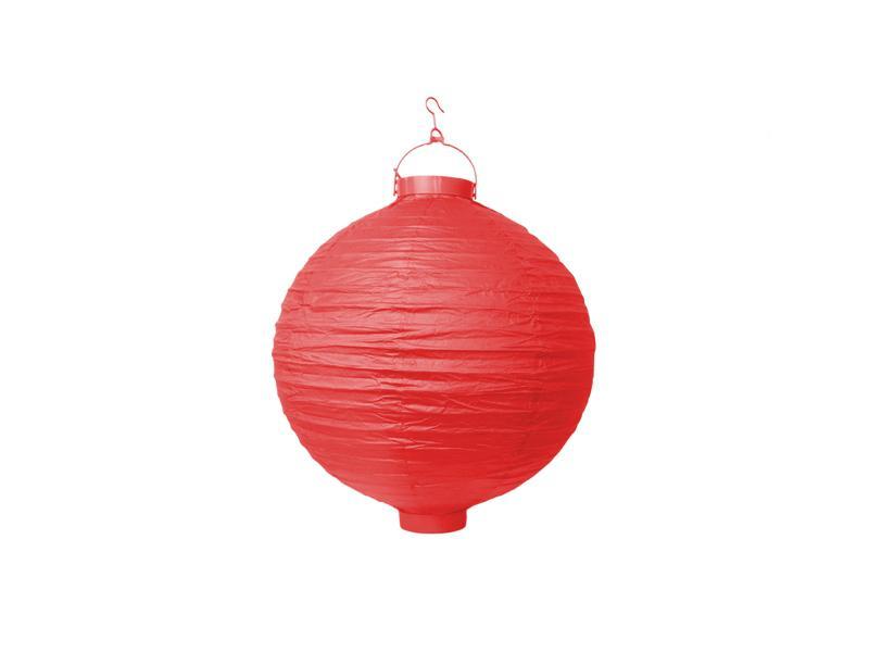 világító LED lampion gömb 20 cm – piros