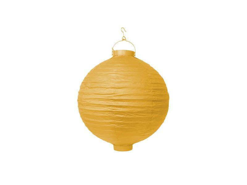 világító LED lampion gömb 20 cm – sárga