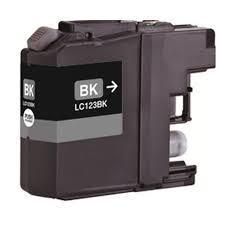 Utángyártott Brother LC123Bk fekete tintapatron