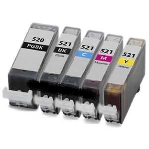 Utángyártott Canon CLI-521 multipack (4 szín+pgi-520)