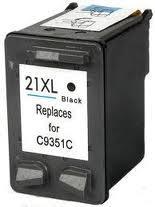 Utángyártott HP C9351AE fekete tintapatron (21XL) 20ml!