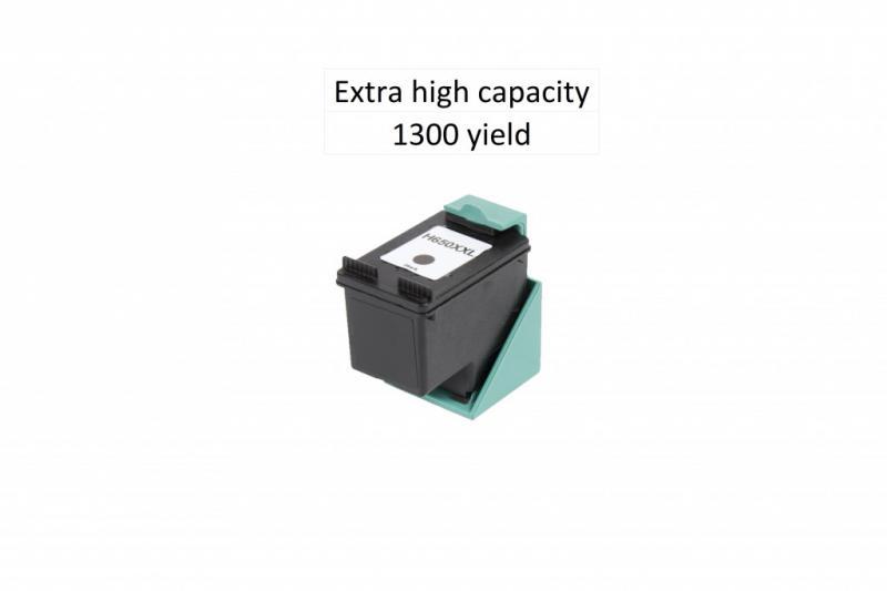 Utángyártott HP CZ101XL (650XL) fekete tintapatron 24 ml! Dupla kapacitás!