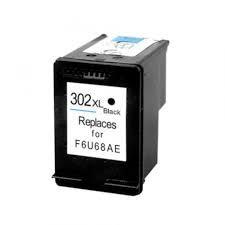 Utángyártott HP F6U68AE fekete tintapatron (302XL)