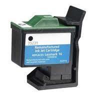 Utángyártott Lexmark 10N0016 (16) fekete tintapatron