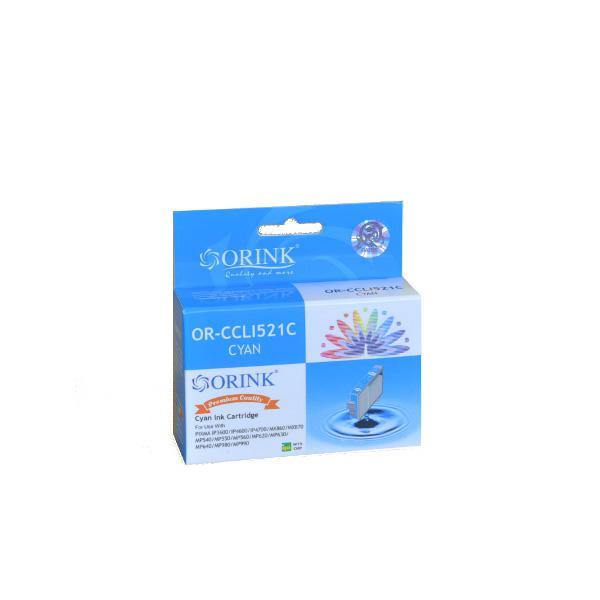 Utángyártott ORINK Canon CLI-521C chippes kék tintapatron
