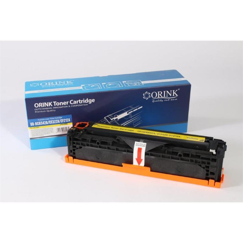 Utángyártott ORINK HP CB542A/CE322A/CF212A (CRG-716) sárga toner (100% új!)