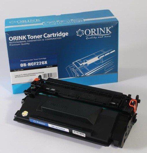Utángyártott ORINK HP CF226X fekete toner (100% új)