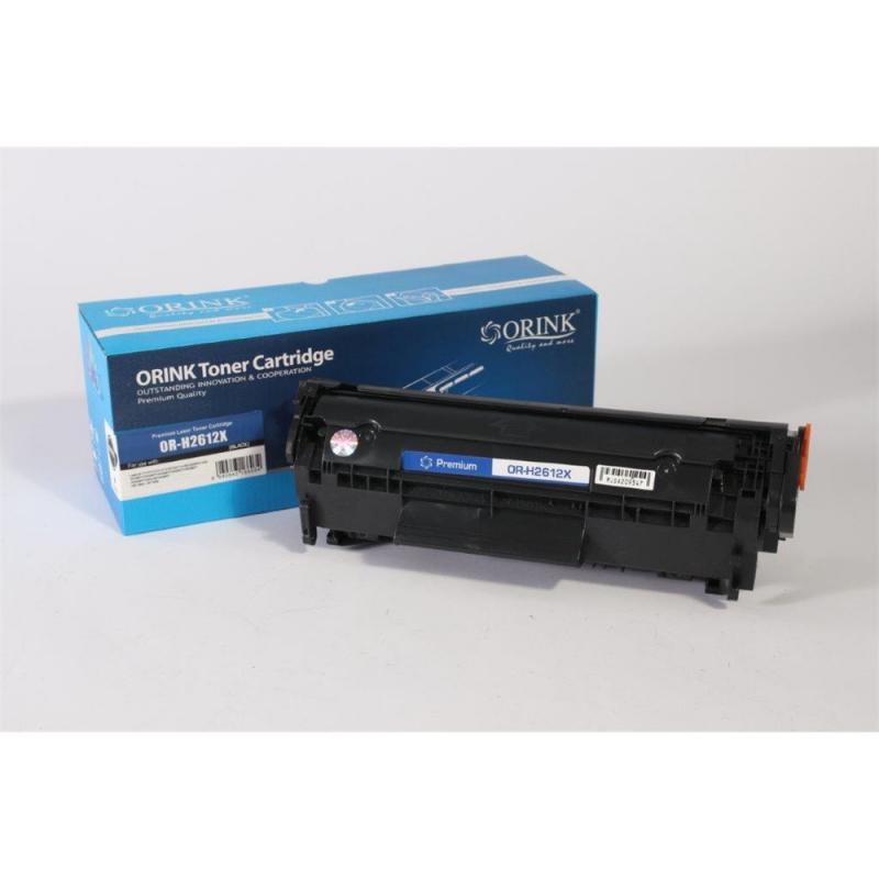Utángyártott ORINK HP Q2612X fekete toner (3000 oldal!-100% új!)