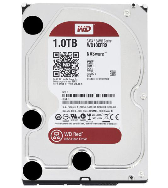 1.0 TB Western Digital 7200 64MB WD10EFRX SATA3 Caviar Red