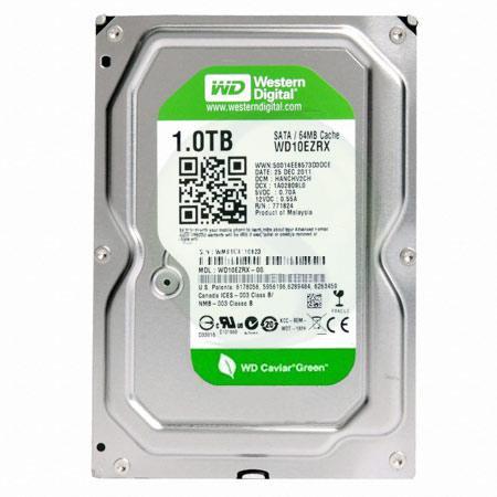 1.0 TB Western Digital Intelipower 64MB WD10EZRX SATA3, Caviar Green