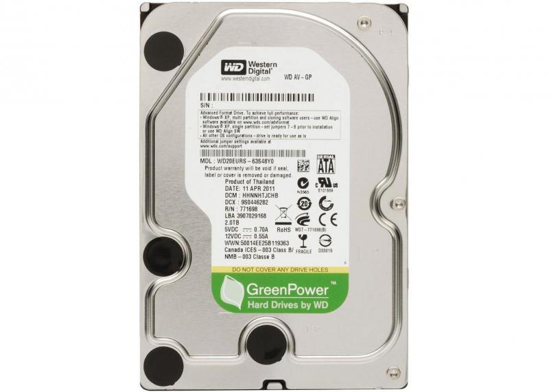 2.0 TB Western Digital 7200 64MB WD20EURX SATA3