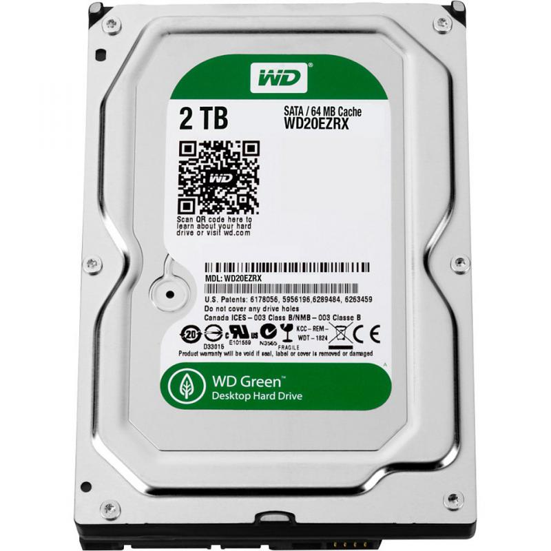 2.0 TB Western Digital Intelipower 64MB WD20EZRX SATA3, Caviar Green