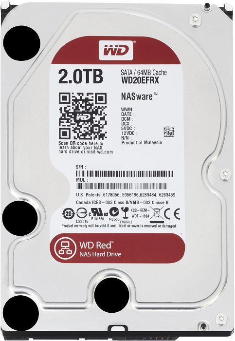 2.0 TB Western Digital Intellipower 64MB WD20EFRX SATA3 Caviar RED