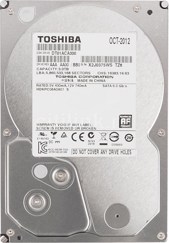 3.0 TB Toshiba 7200 64MB 3.5 DT01ACA300 SATA3