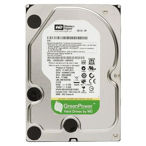 3.0 TB Western Digital 7200 64MB WD30EURX SATA3 AV Green Power