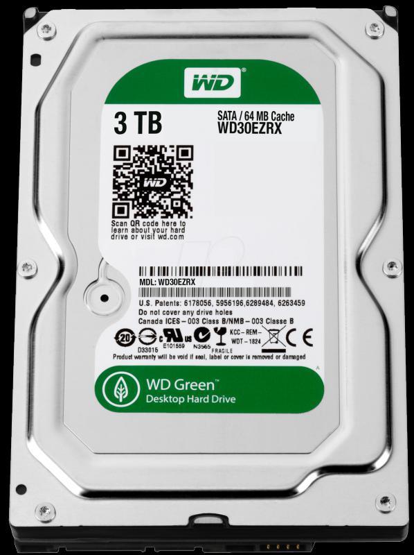 3.0 TB Western Digital 7200 64MB WD30EZRX SATA3