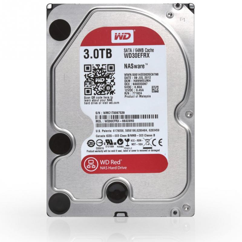 3.0 TB Western Digital Red 7200 64MB WD30EFRX SATA3