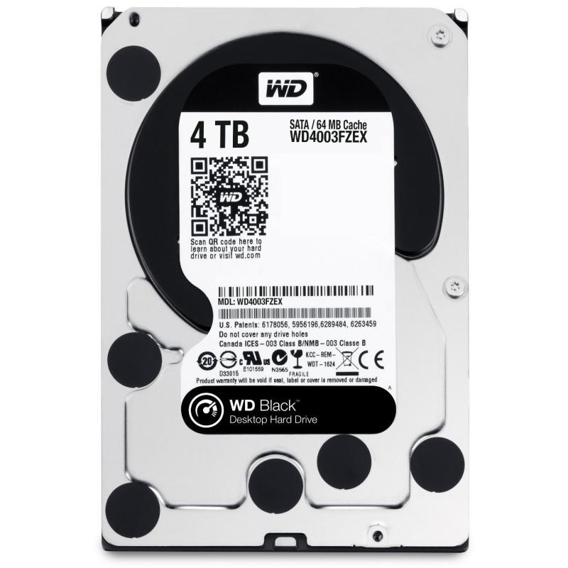 4 TB Western Digital 7200 64MB WD4003FZEX SATA3 Caviar Black