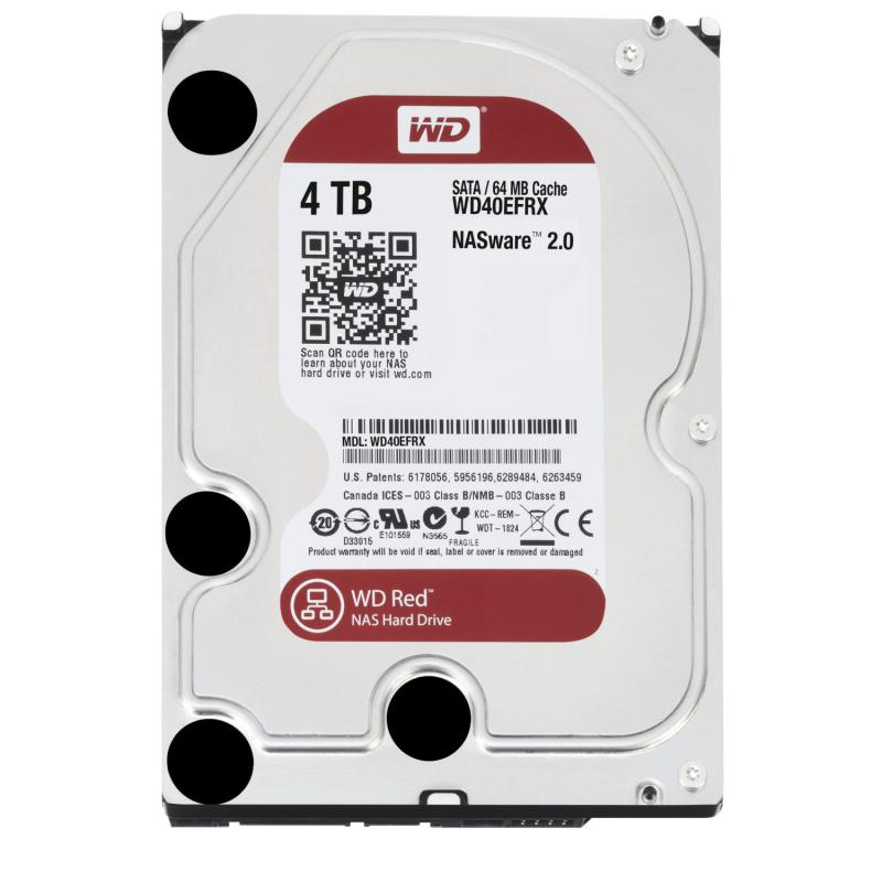 4 TB Western Digital 7200 64MB WD40EFRX SATA3 CaRed