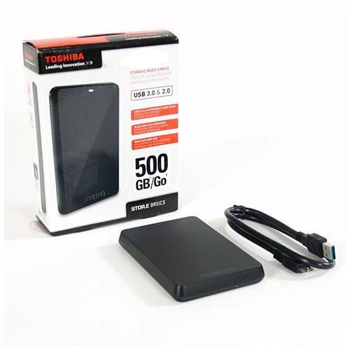 500GB Toshiba 2.5 StorE Basics USB3.0 fekete HDTB105EK3AA