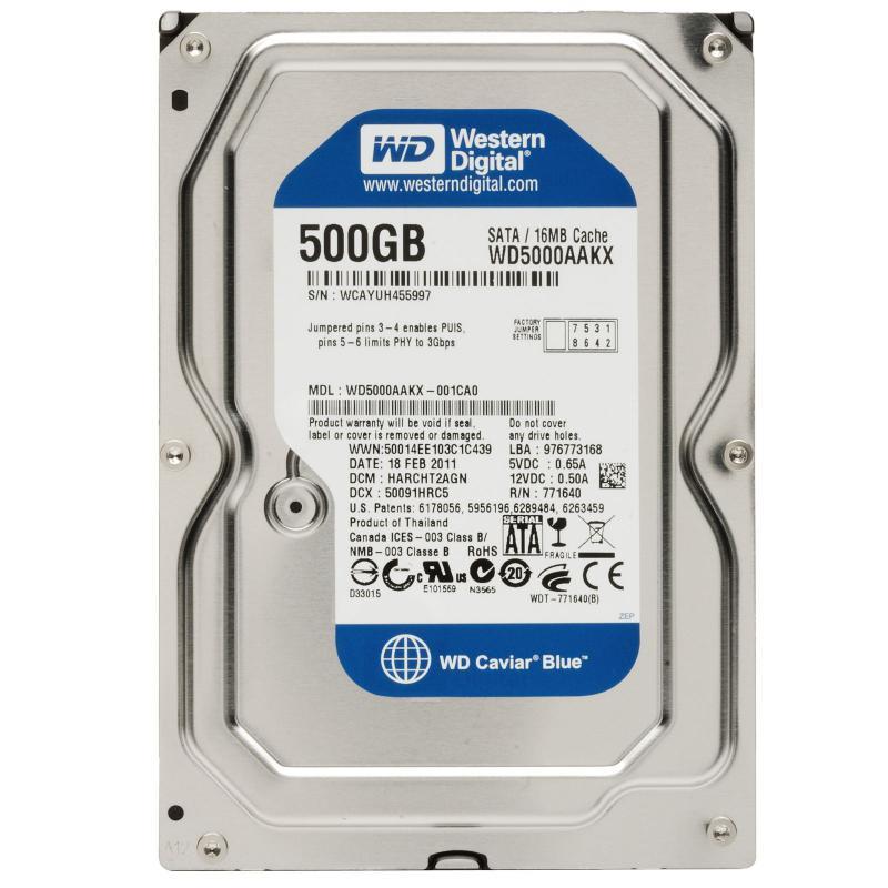 500GB Western Digital 7200 16MB WD5000AAKX SATA3 Caviar Blue