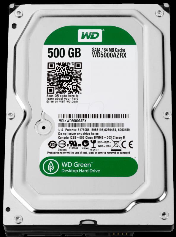 500GB Western Digital Intellipower 64MB WD5000AZRX SATA3, Caviar Green