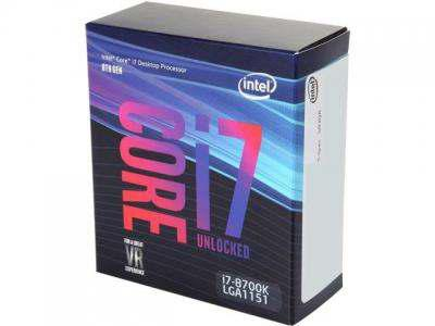 INTEL Core i7-8700K 3.7 GHz, 12MB, 95W, LGA1151v2
