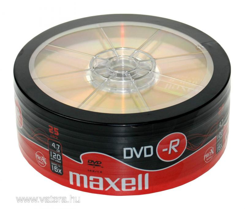 Maxell DVD-R 4,7GB 16x 25-ös fóliában