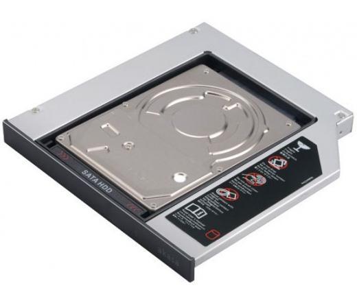 SATA to SATA HDD SSD  Optical CD/DVD-ROM 9.5mm, Slim HDD beépítő keret
