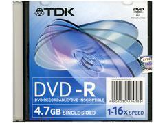 TDK DVD-R 4,7GB 16x slim